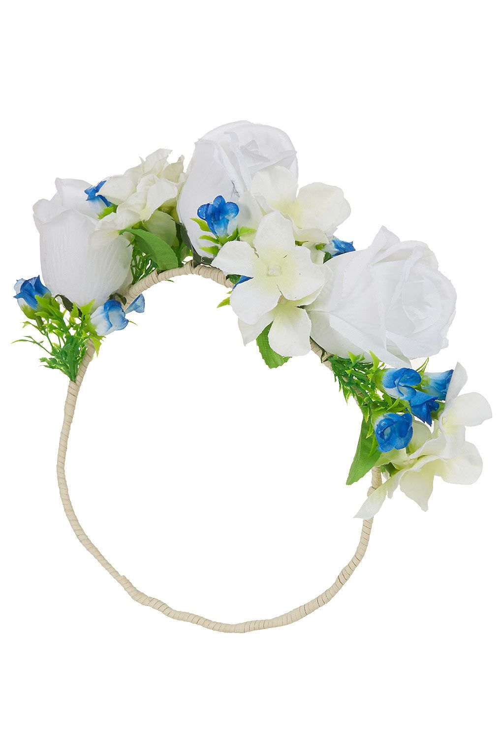 Oversize White Garland Hair Accessories Bags Accessories