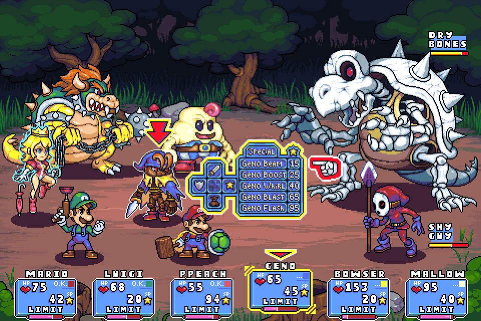 Super mario RPG mockup ver01 by Omegachaino | Heroes and