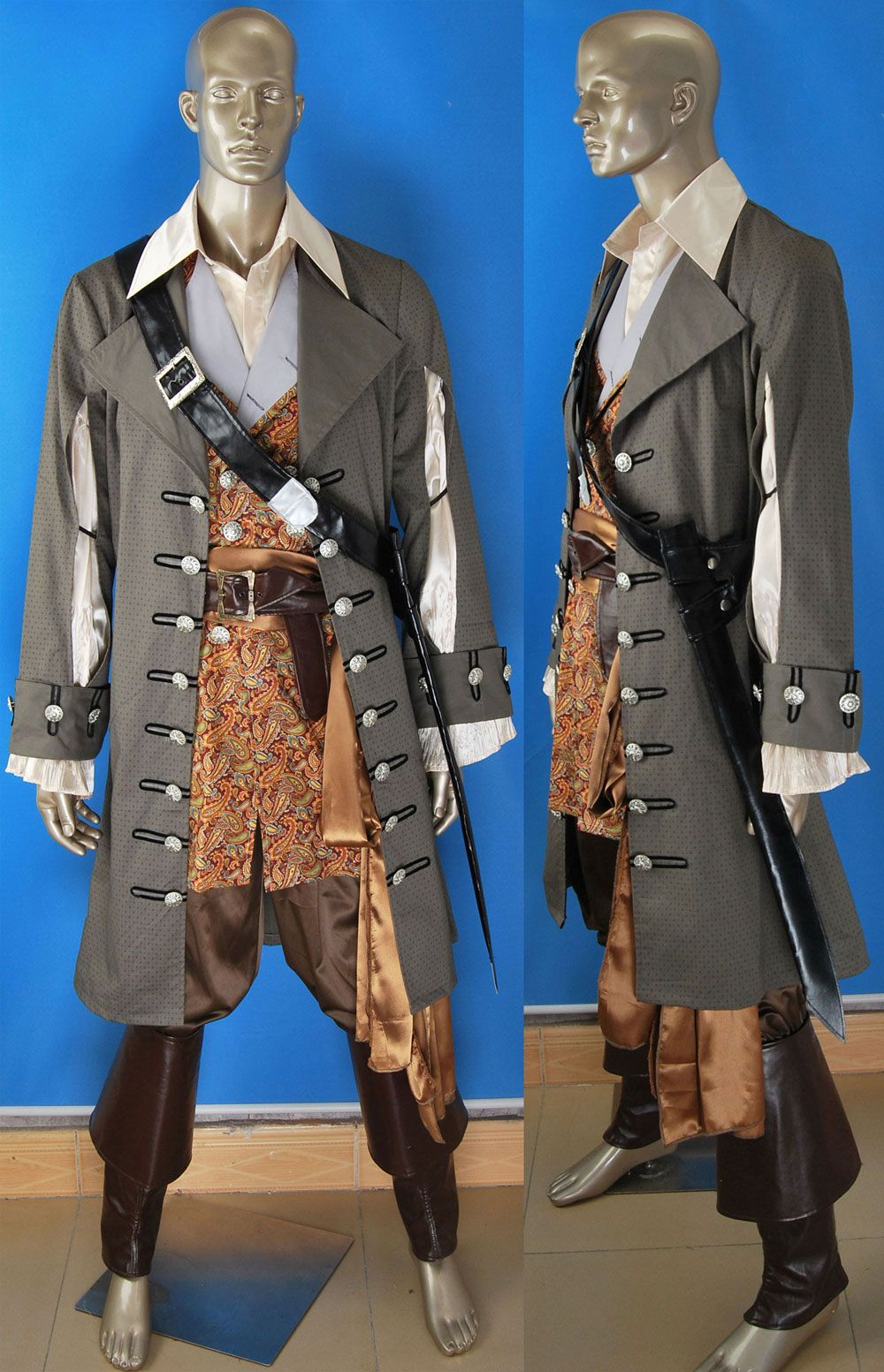 Pirates of the Caribbean: On Stranger Tides Captain Hector Barbossa cosplay  costume deluxe express pre