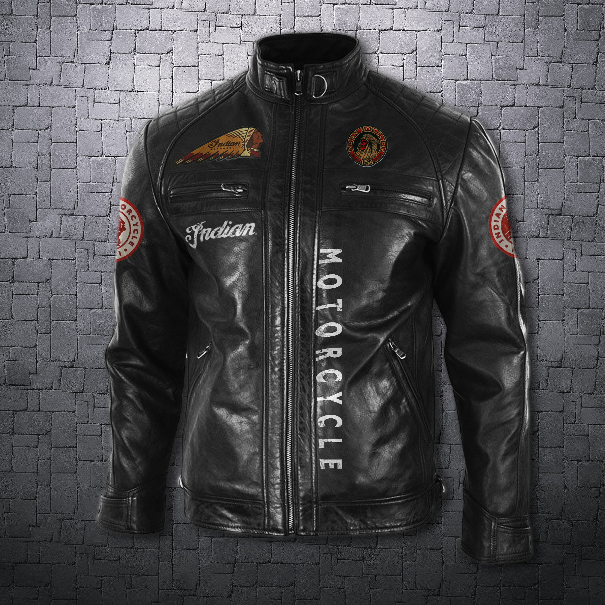 Men's Leather Jacket Indian in 2020 Harley davidson