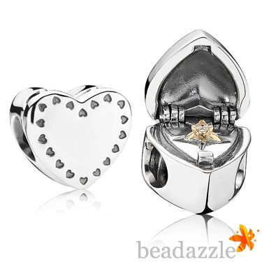 Pandora Heart Gift Box with 14K Gold Ring and Cubic Zirconia