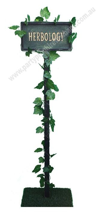 Herbology Sign - Available for hire from Party Prop Hire