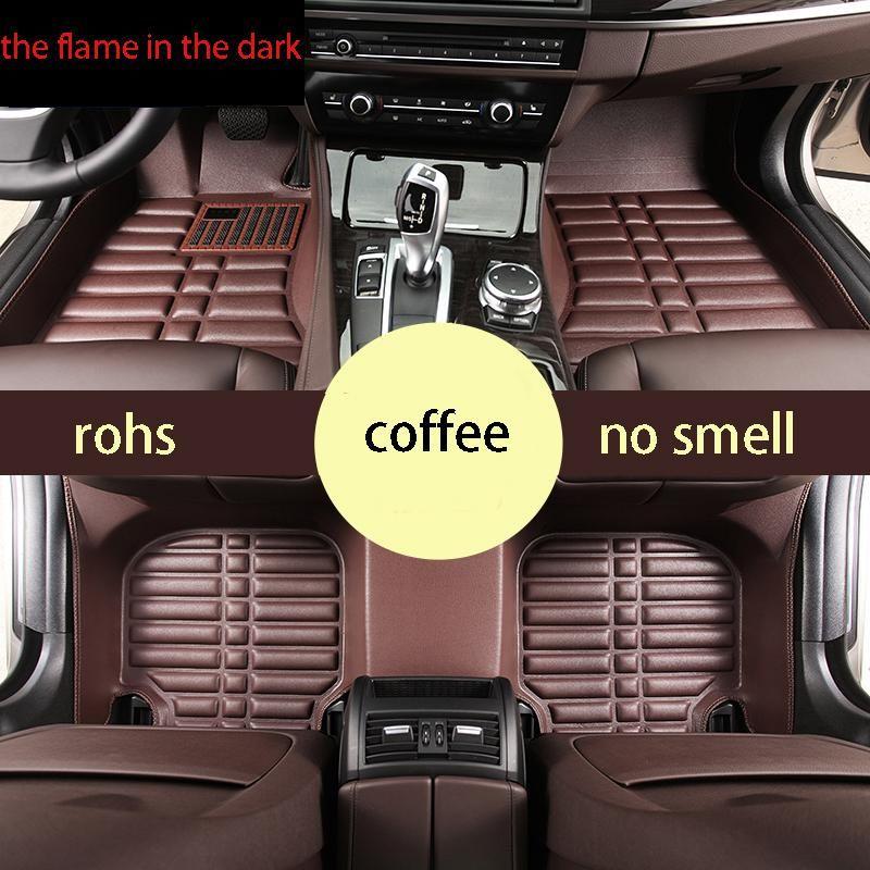 Fast Shipping Fiber Leather Car Floor Mat For Bmw E90 E91