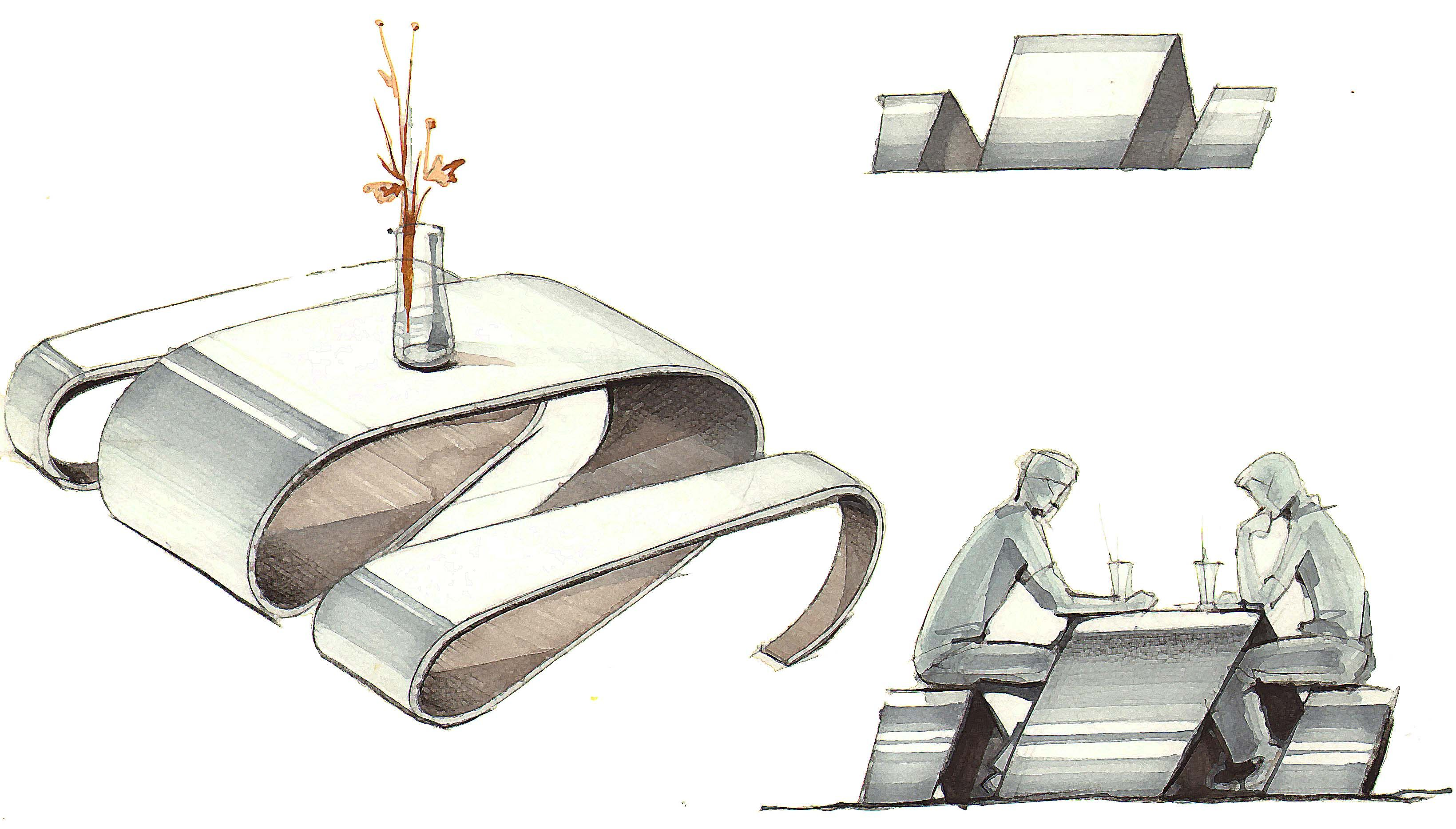 Amazing decor furniture design sketches with original for Stuhl design analyse