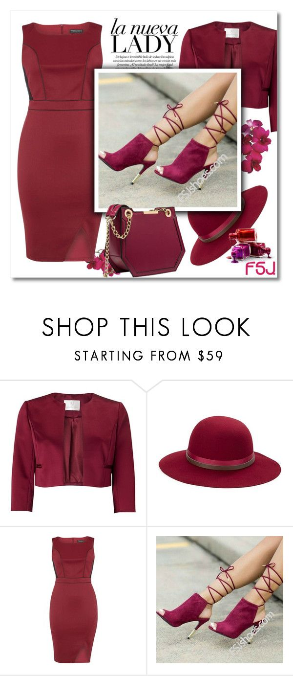 """FSJ"" by adanes ❤ liked on Polyvore featuring Jacques Vert, Betmar, Dorothy Perkins and fsjshoes"