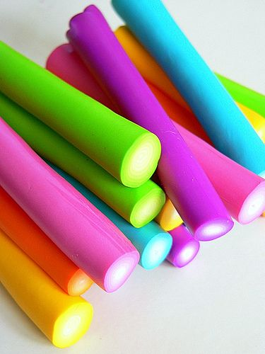 Neon Candy Sticks I'm sure of the ingredients but if it has gelatin or any animal byproducts it's NOT vegan. On a better note I think the colors are pretty.