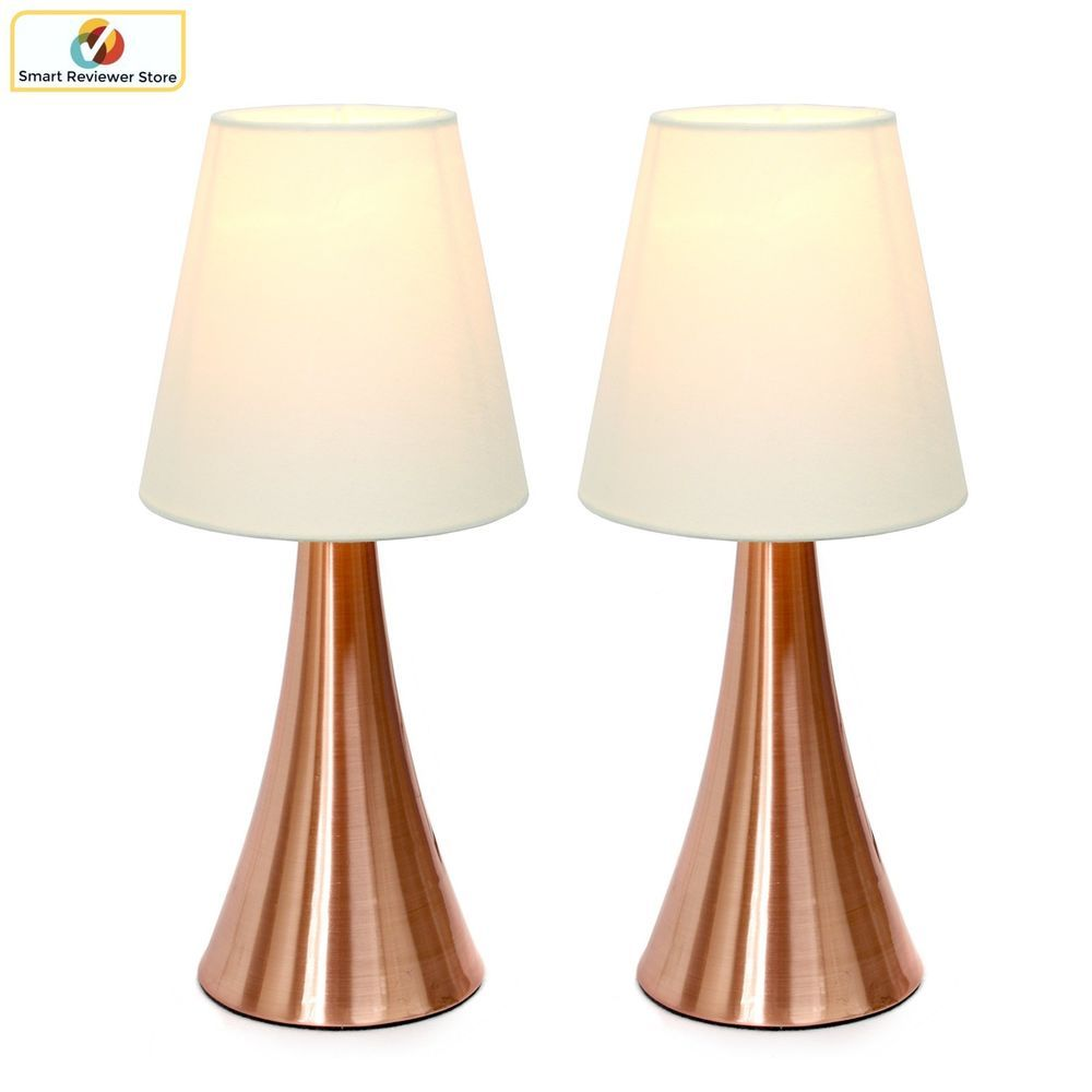 2 Set Modern Stand Table Lamps Touch Sensor Bedroom Night Lamp Desk Cream Lights Simpledesignshome Modern Touch Table Lamps Lamp Sets Fabric Shades