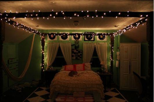 Marvelous Hipster Bedroom Hipster Bedroom Bedroom Lighting Diy Christmas Lights In Bedroom