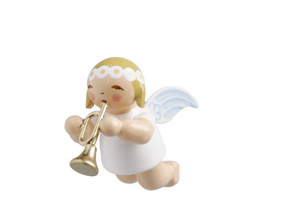 Grünhainicher Engel wendt kühn schwebeengel klein mit trompete wendtkuehn
