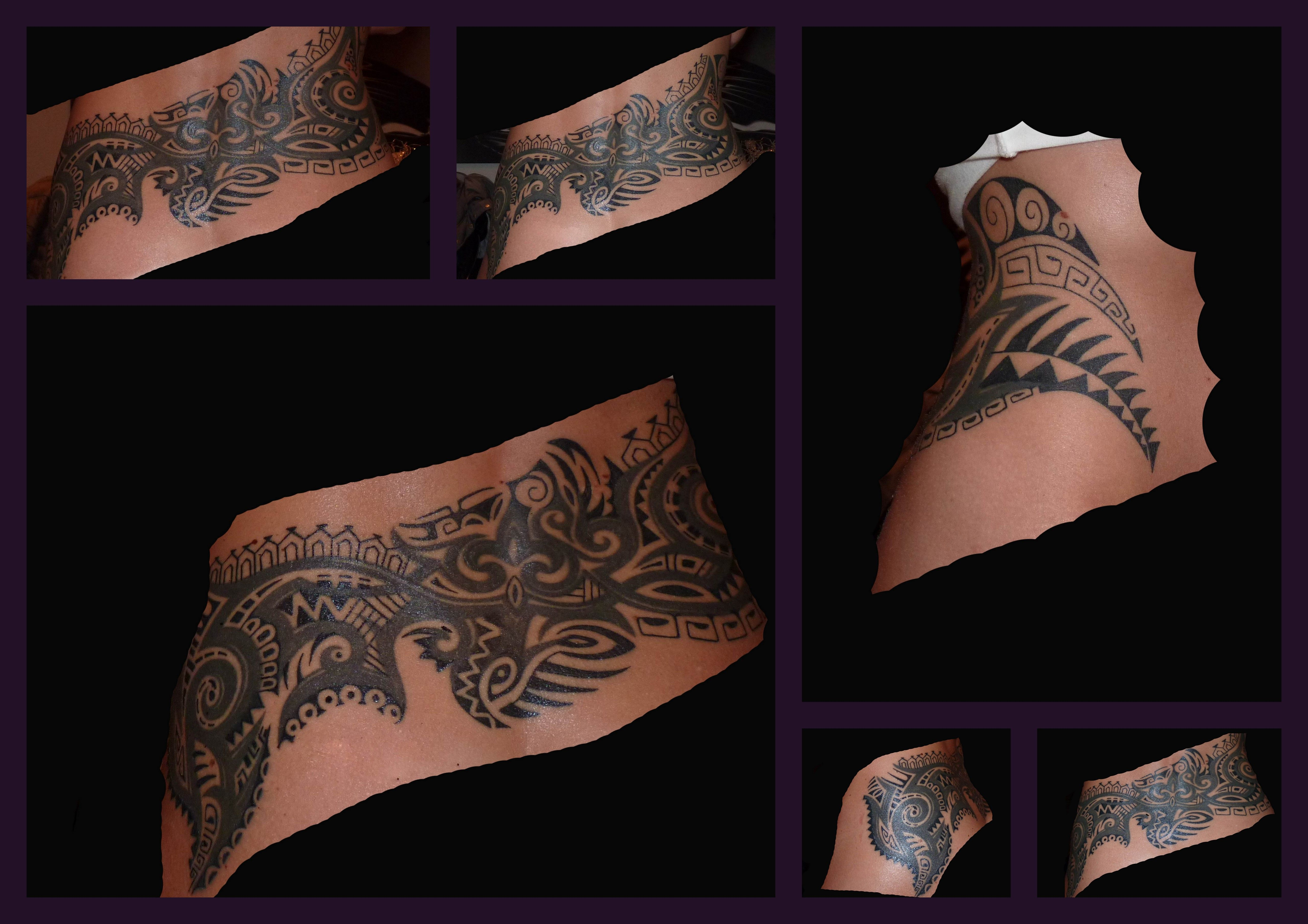 Maori Lower Back Tattoo: Best Lower Back Cover Up I´ve Ever Seen