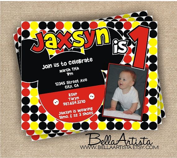 mickey mouse personalized invitations Google Search Party