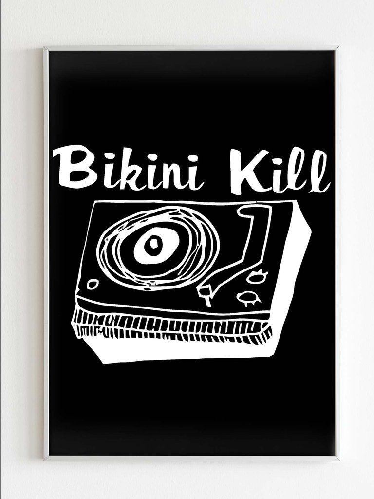 Bikini Kill Logo Rock Band Poster Rock Band Posters Band Posters Bikini Kill