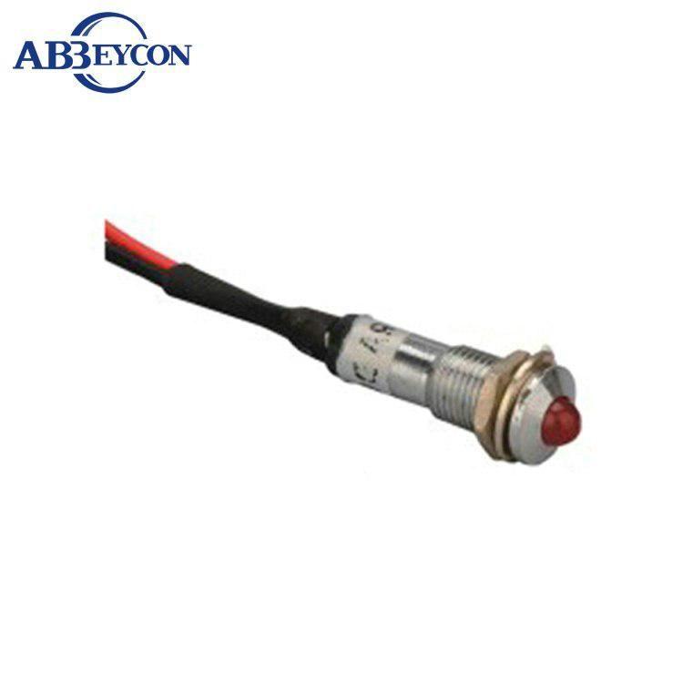 Zs64 Metal Pilot Light 12v 8mm Led 12v Voltage Indicator With Wire