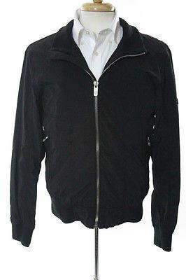 Ben Sherman Mens Black Long Sleeve Zipper Close Lightweight Jacket Size Small