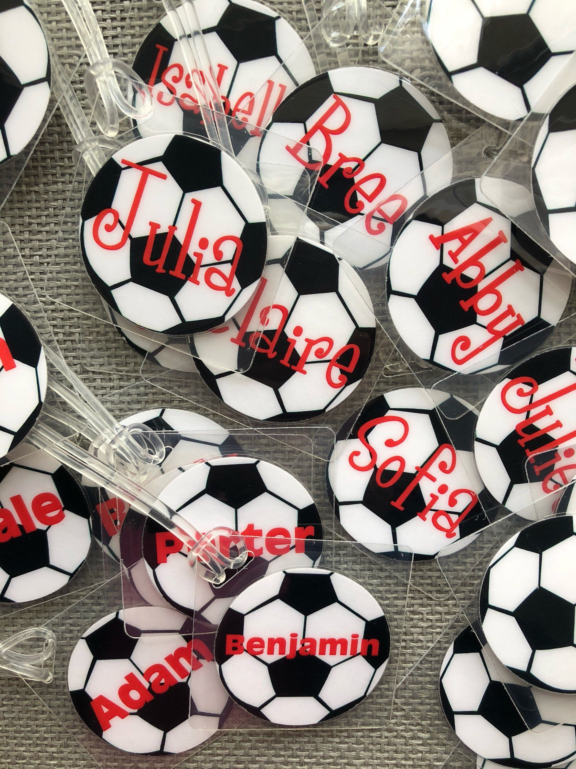 Soccer Bag Tags Great End Of The Season Gifts Or Party Favors By Toddletags On Etsy