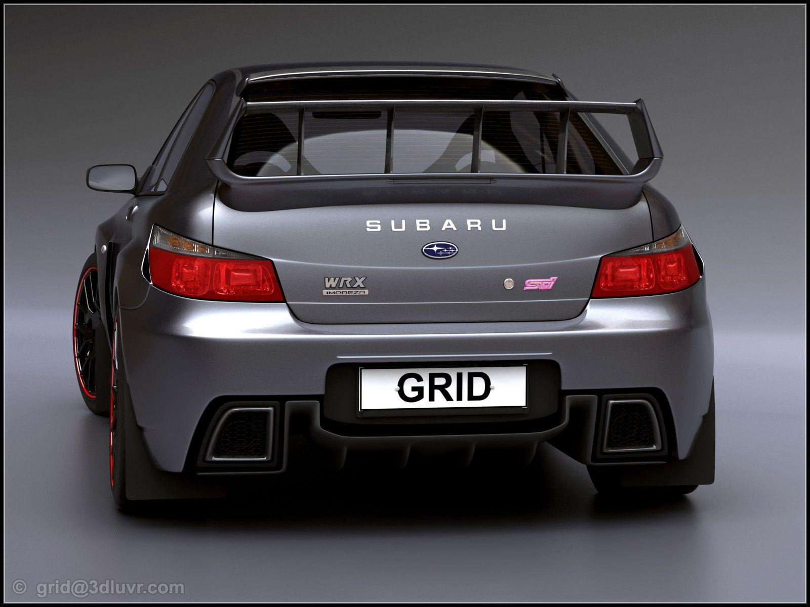 2007 subaru impreza wrx sti concept design by lars martensson rear wallpaper