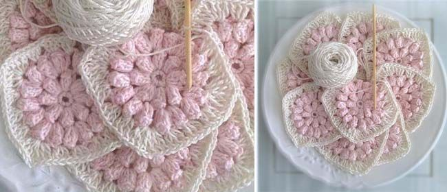Look at these cute flower granny squares created by Millie over at ...
