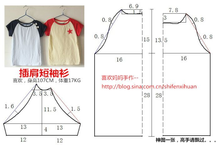 real clothes pattern to re-size} from: maizilemon_ Sina blog ...