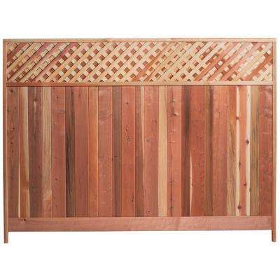 Mendocino Forest Products 6 Ft H X 8 Ft W Redwood Lattice Top Fence Panel 01337 The Home Depot In 2020 Fence With Lattice Top Lattice Fence Panels Metal Fence Panels