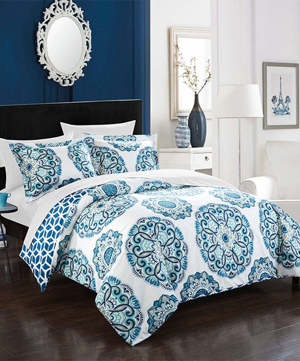 love this blue chic home malaga reversible duvet setchic home