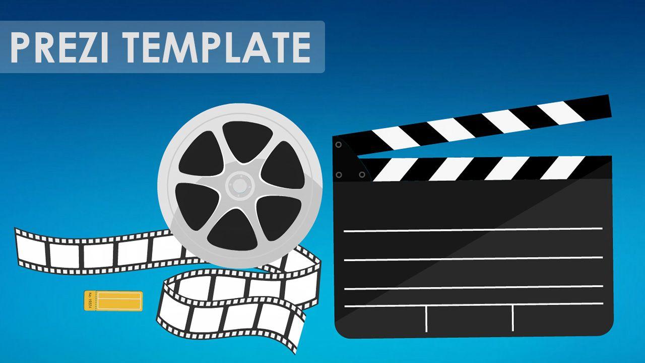 Prezi Template For A MovieCinema Related Presentation Clapper