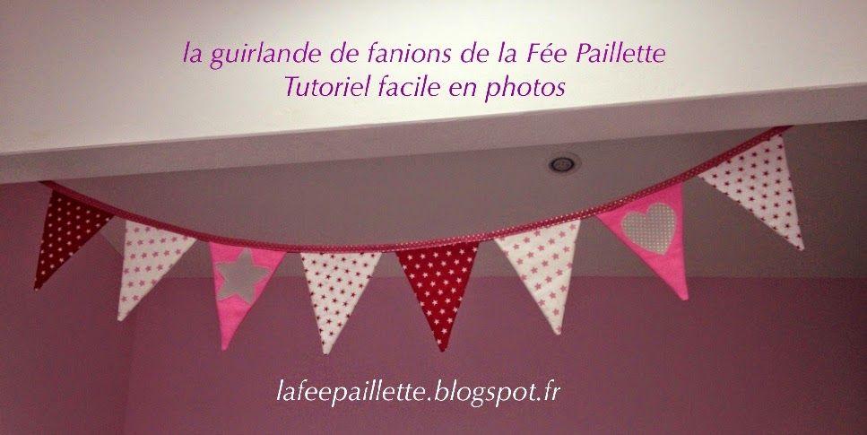 Le Tuto facile de la GUIRLANDE DE FANIONS lafeepaillette.blogspot.fr