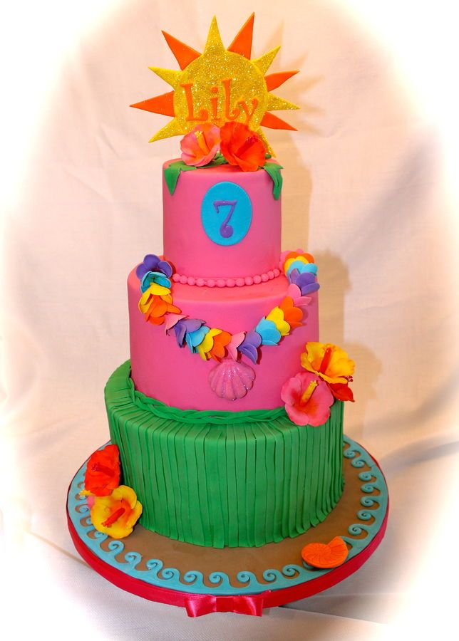 Luau cake Cakes and Cupcakes for Kids birthday party Pinterest