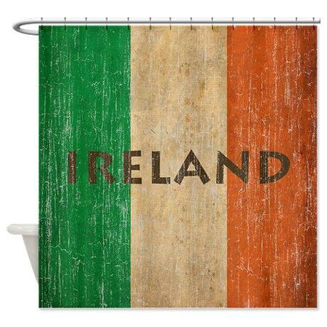 Vintage Ireland Shower Curtain On CafePress