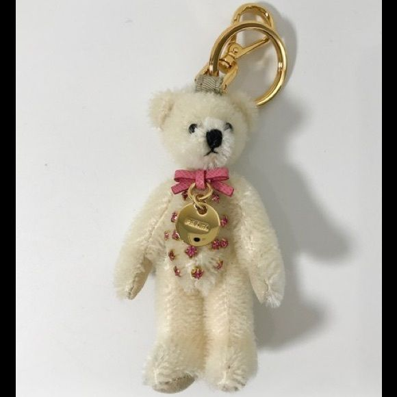 3dbc011023ad67 NWT PRADA white bear key charm. Authentic 100% Designer: Prada Article  number: