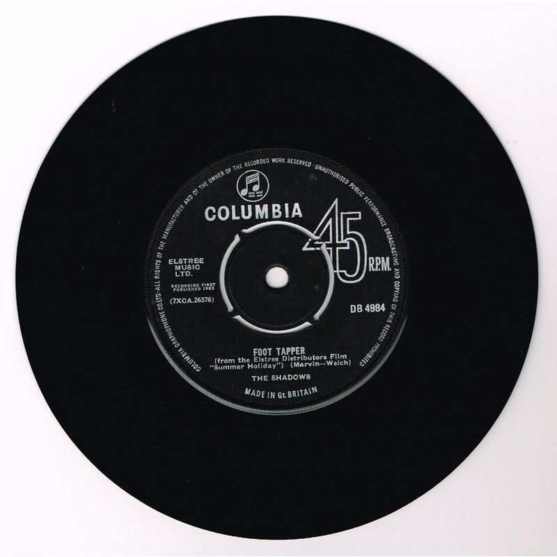 """The Shadows: Foot Tapper b/w The Breeze and I (7"""" Single)"""