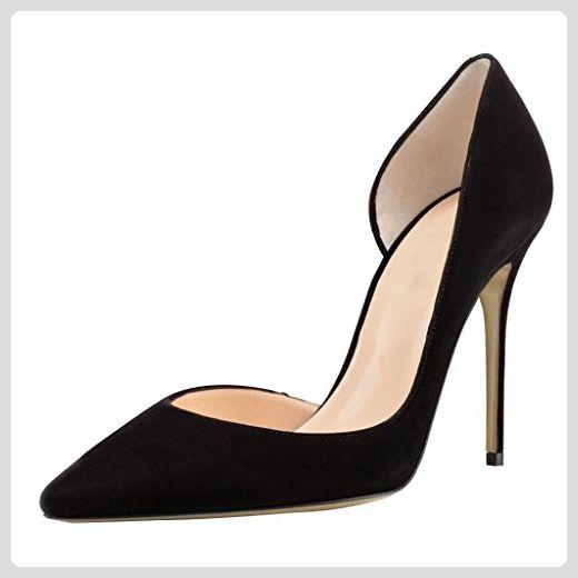 ecdf3d760a10fe Kolnoo Damen Cut Out Pfennigabsatz Pumps Geschlossene Schuhe Schwarz Größe  EU45 - Damen pumps ( Partner-Link)