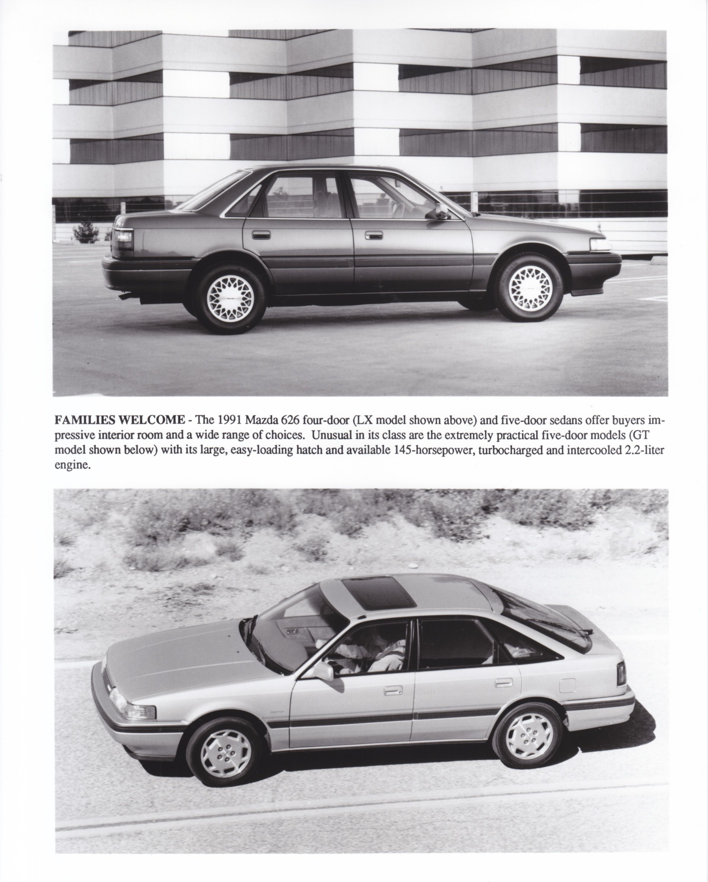 Electric Vehicle Mazda 626 4 Door Lx Gt 5 Usa 1991