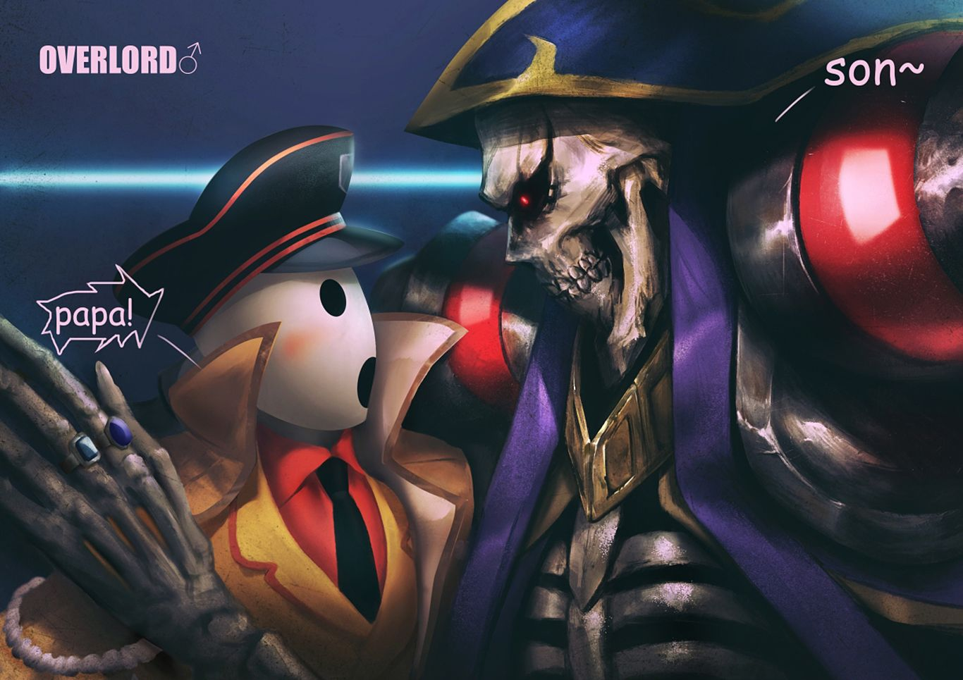 Ainz Ooal Gown And Pandora S Actor Computer Wallpapers Desktop Backgrounds 1366x965 Id 648891 Anime Anime Images Wallpaper Backgrounds