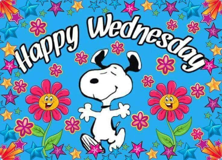 Happy Wednesday Cartoon Weekday Quotes Snoopy Good Morning