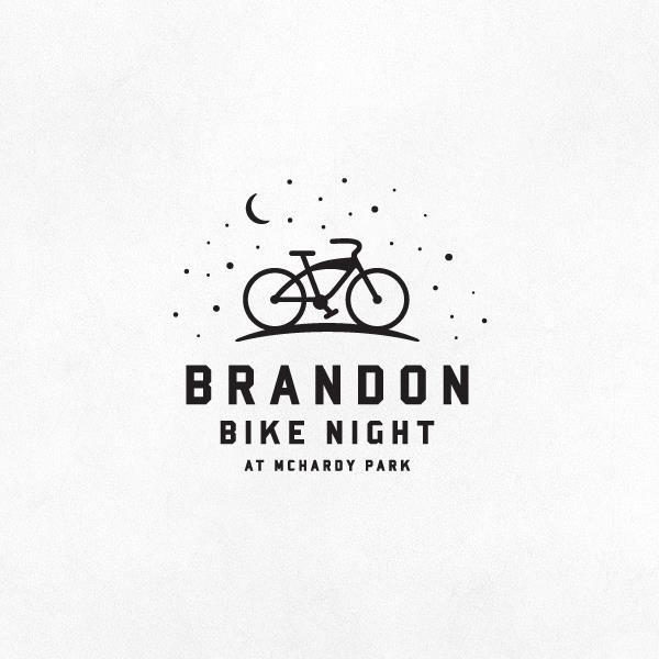 brandon bike night logo  brandon is one of several stops on the tour de kota bike ride in summer