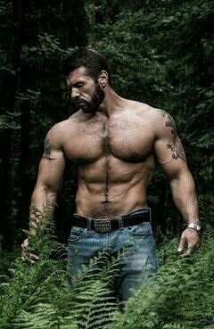 Hunks hot pettings in the forest