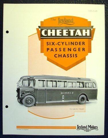 Leyland Cheetah Bus Coach Sales Brochure  Ribble  Bus Coach