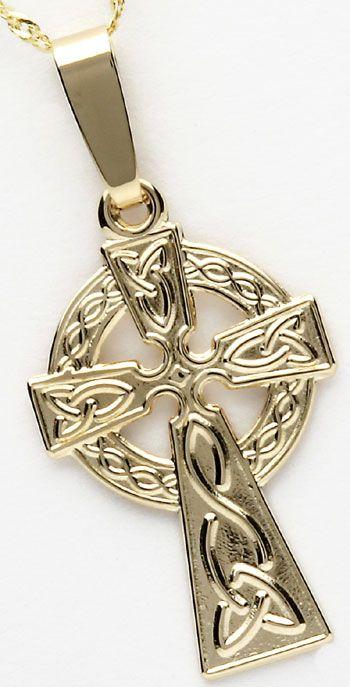 10k Yellow Gold Celtic Cross Celtic Cross Yellow Gold Celtic