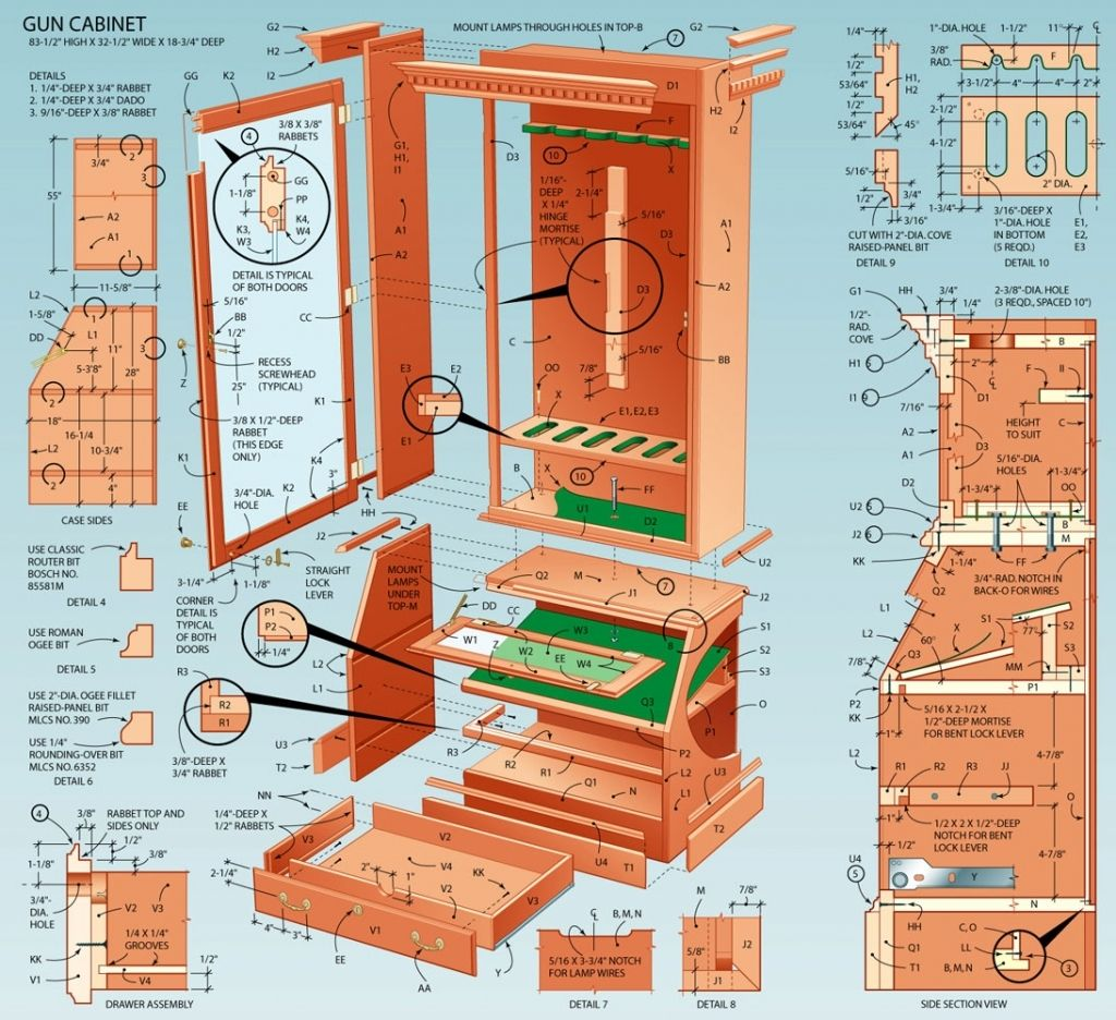 Design homemade dining table plans diy ideas 187 woodplans woodplans - Nice Free Gun Cabinet Woodworking Plans Pertaining To Property Check More At Http