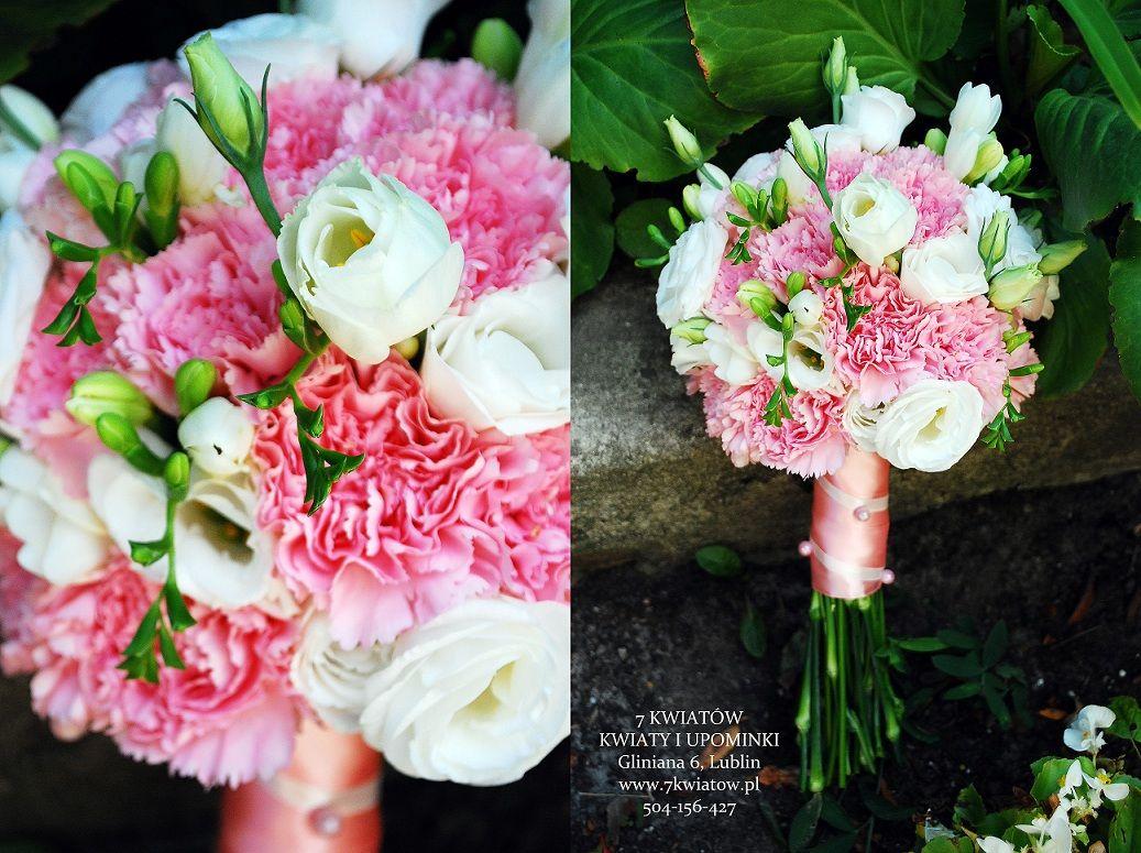 Bukiet Slubny Z Frezji Gozdzika I Eustomy Floral Wreath Flowers Floral