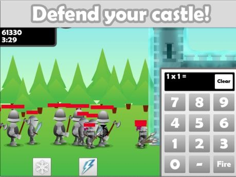 Maths Castle Math Drills, Video Game Style Free math