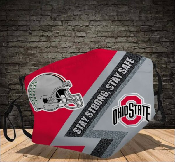 Ohio State Buckeyes stay strong stay safe face mask