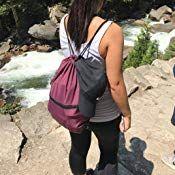 950fb93c6bae HOLYLUCK Men & Women Sport Gym Sack Drawstring Backpack Bag White ...