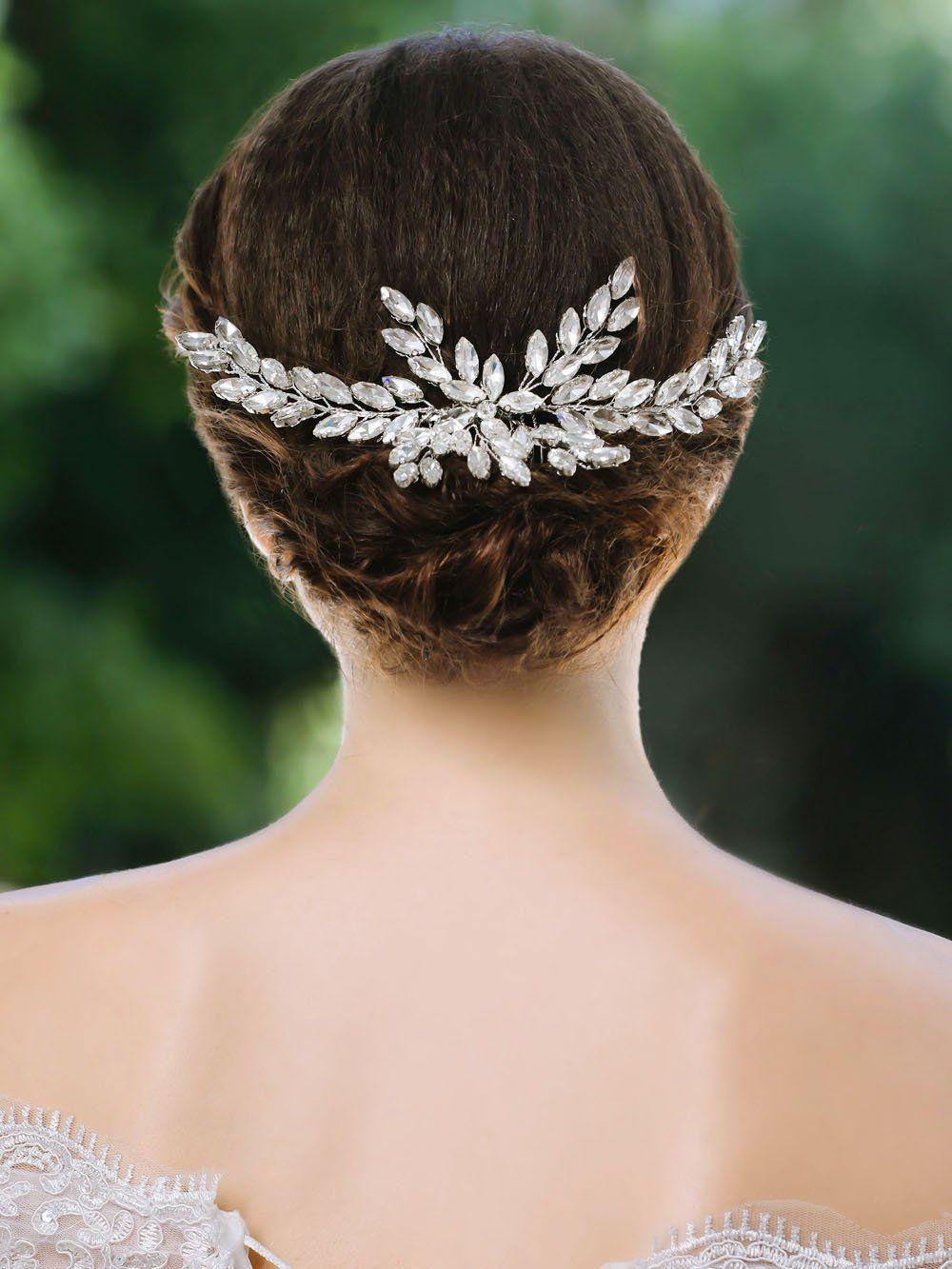 yean wedding hair comb rhinestones bridal hair side comb