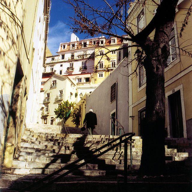   ♕   Alfama Stairway - Lisbon, Portugal   by © Peter Gutierrez