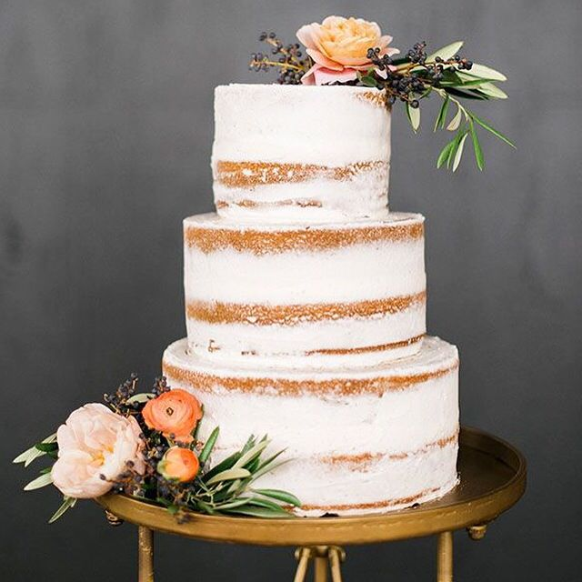 Sweet And Simple Naked Wedding Cakes: {Friday Favorites} Adore This Summer California Barely
