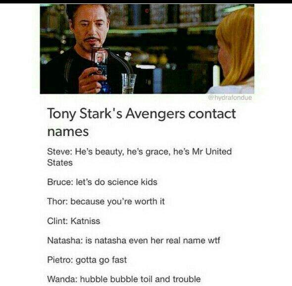 Avengers Preferences - Contact names | Marvel | Marvel ...