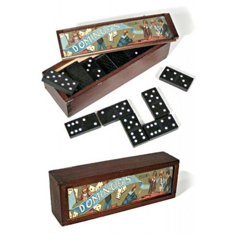 Vintage Dominoes English Game Set Fun Toys More Wants English