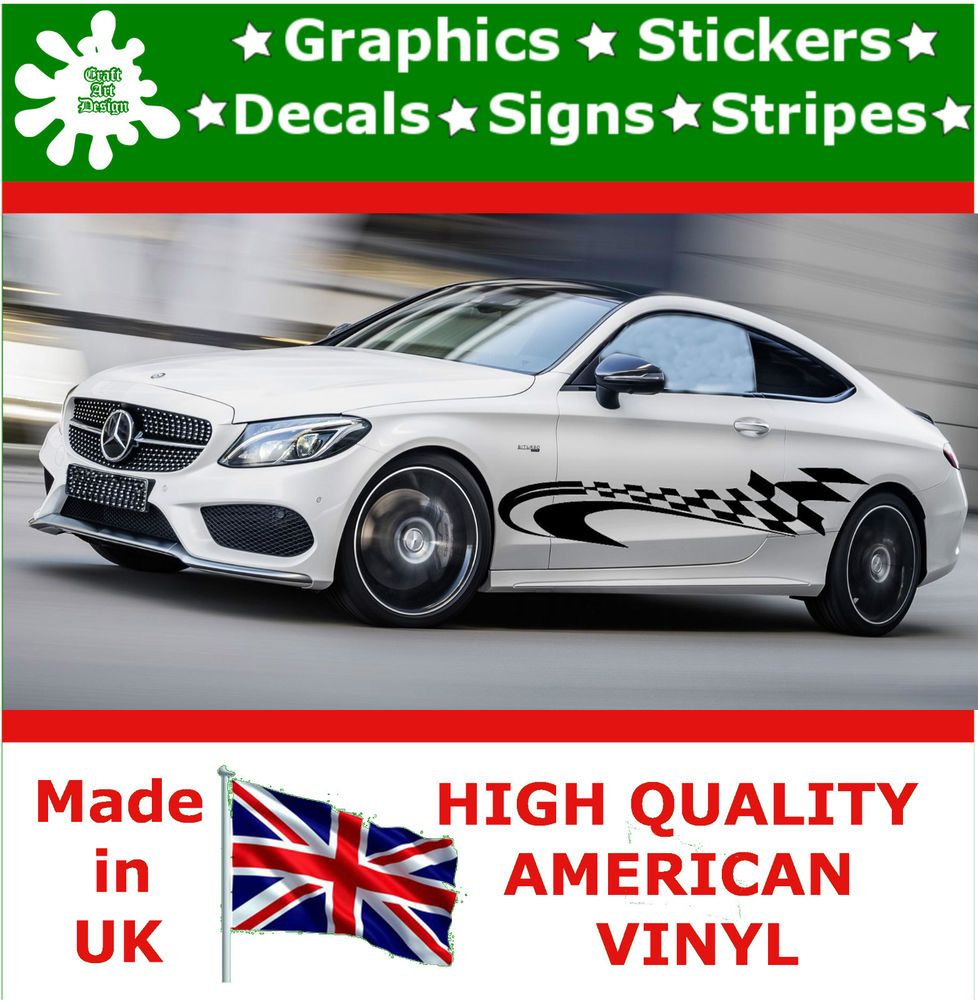Car Racing Stripes Sticker Art Set Vinyl Graphics Decal Auto Rally - Graphic design stickers for cars