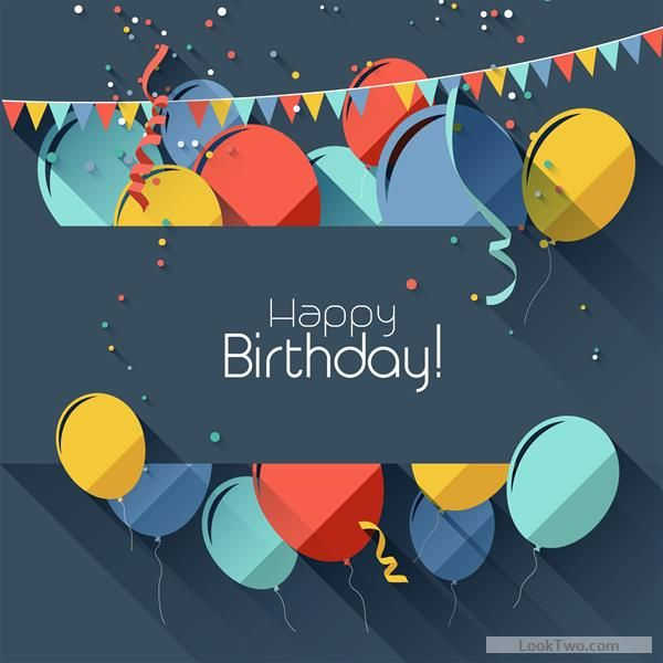free colored confetti with happy birthday gray background vector 02